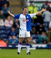 Photo: Jed Wee.<br />Blackburn Rovers v West Bromwich Albion. The Barclays Premiership. 01/10/2005.<br /><br />Blackburn's Paul Dickov protests a decision.
