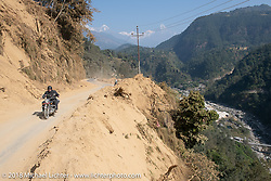 Scotty Busch on day-4 of our Himalayan Heroes adventure riding from Pokhara to Kalopani, Nepal. Friday, November 9, 2018. Photography ©2018 Michael Lichter.