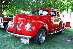 06 August 2016:  1940 Ford Business Coupe<br /> Owner: Dick Charleton<br /> <br /> Displayed at the McLean County Antique Automobile Association Car show at David Davis Mansion in Bloomington Illinois