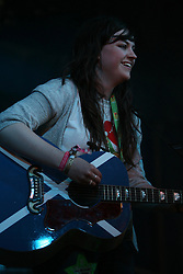 Amy McDonald on the T break Stage, at T in the Park, Saturday 7 July 2007..T in the Park festival took place on the 6th, 7th and 8 July 2007, at Balado, near Kinross in Perth and Kinross, Scotland. This was the first time the festival had been held over three days..Pic ©Michael Schofield. All Rights Reserved..
