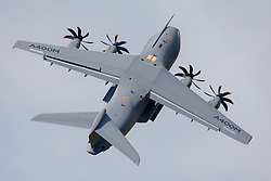 © Licensed to London News Pictures. 12/07/2014. RAF Fairford UK. An Airbus A400M Performs at the Royal International Air Tattoo at RAF Fairford. Photo credit : Ian Schofield/LNP