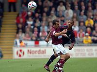 Photo: Kevin Poolman.<br />Northampton Town v Nottingham Forest. Coca Cola League 1. 12/08/2006. Northampton captain Scott McGleish is sent off for this challenge on James Perch.