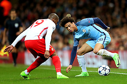 Leroy Sane of Manchester City takes on Djibril Sidibe of Monaco - Mandatory by-line: Matt McNulty/JMP - 21/02/2017 - FOOTBALL - Etihad Stadium - Manchester, England - Manchester City v AS Monaco - UEFA Champions League - Round of 16 First Leg