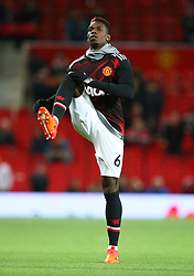 Manchester United's Paul Pogba warms up