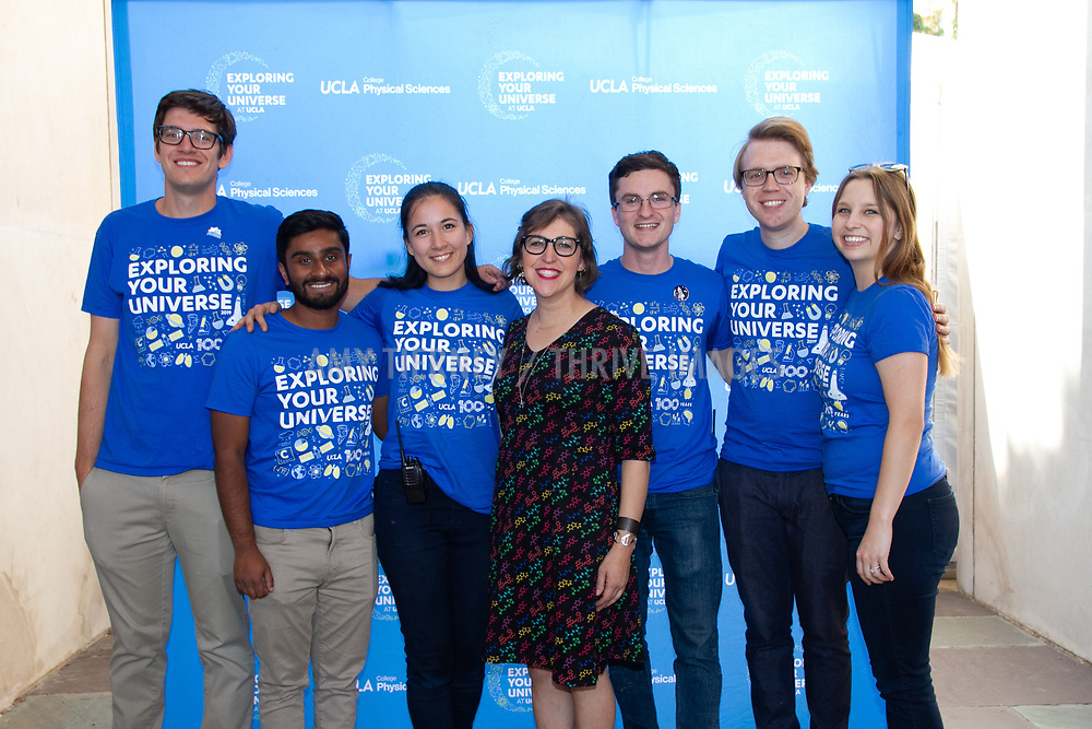 Mayim Bialik with UCLA Exploring Your Universe student event organizers