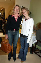 LADY MARY-GAYE CURZON and her daughter MISS CRESSIDA BONAS at a fashion show of Sybil Stanislaus Summer 2005 collection with jewellery by Philippa Holland held at The Lanesborough Hotel, Hyde Park Corner, London on 13th April 2005.<br /><br />NON EXCLUSIVE - WORLD RIGHTS