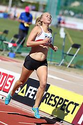 Katrine Reinholdt  of Denmark in the 1500m B race at Folksam Grand Prix Göteborg, Slottskogsvallen, 14. juni 2014.