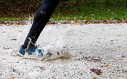 Recreational running after rain on September 30, 2013 in Mostec, Ljubljana, Slovenia. (Photo by Vid Ponikvar / Sportida.com)