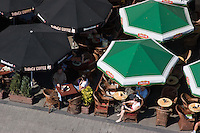 Cafes on the Market Square in Krakow Poland