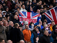 Football - 2019 Betfred Scottish League Cup Final - Celtic vs. Rangers<br /> <br /> Rangers fan during the game, Hampden Park Glasgow.<br /> <br /> COLORSPORT/BRUCE WHITE