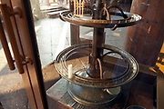 one candle in large holder stand for offering at the Daibutsuden Todaiji temple in Nara Japan