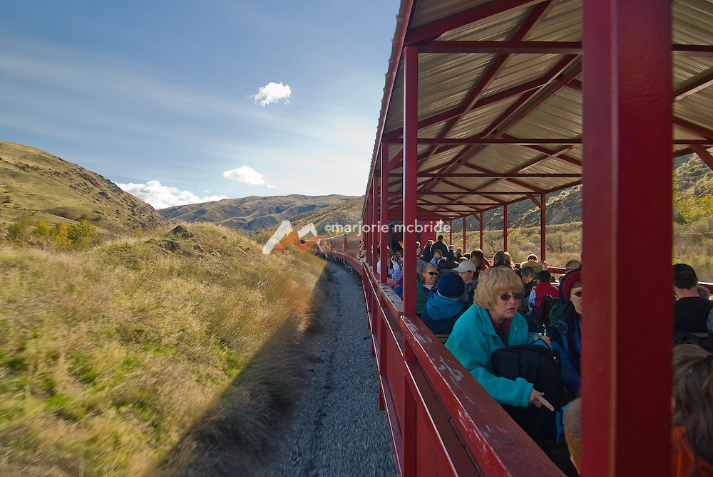 Thunder Mountain Line, Horseshoe Bend train ride. Family fun in open air seating destined to pick pumpkins during autumn.