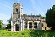 Village parish church of Saint Ethelbert, Hessett,, Suffolk, England, UK