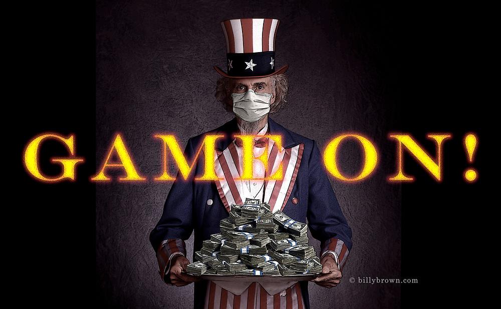 Photo Illustration Uncle Sam Money