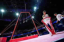 August 9, 2018 - Glasgow, UNITED KINGDOM - 180809 Odin KalvÂ¿ of Norway competes at the rings in the qualification of Men's Artistic Gymnastics during the European Championships on August 9, 2018 in Glasgow..Photo: Jon Olav Nesvold / BILDBYRN / kod JE / 160290 (Credit Image: © Jon Olav Nesvold/Bildbyran via ZUMA Press)
