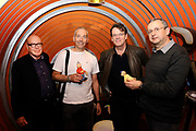 Officiële opening Buurman en Buurman studio in Beeld en Geluid , Hilversum.<br /> <br /> Op de foto:  De makers van Buurman en Buurman Tomas Eiselt en Marek Benes met Kees Prins en Burny Bos