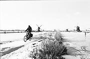 Man op fiets, Alblasserdam, Zuid Holland