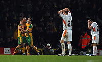 Photo: Ashley Pickering.<br /> Norwich City v Blackpool. The FA Cup. 13/02/2007.<br /> Chris Martin (L) celebrates scoring the winning goal for Norwich in extra time (3-2)