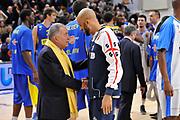 DESCRIZIONE : Eurolega Euroleague 2015/16 Group D Dinamo Banco di Sardegna Sassari - Maccabi Fox Tel Aviv<br /> GIOCATORE : Shimon Mizrahi David Logan<br /> CATEGORIA : Ritratto Postgame Fair Play<br /> SQUADRA : Maccabi FOX Tel Aviv<br /> EVENTO : Eurolega Euroleague 2015/2016<br /> GARA : Dinamo Banco di Sardegna Sassari - Maccabi Fox Tel Aviv<br /> DATA : 03/12/2015<br /> SPORT : Pallacanestro <br /> AUTORE : Agenzia Ciamillo-Castoria/C.Atzori