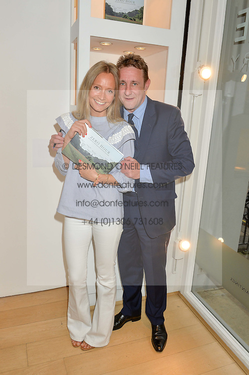 MARTHA WARD and JOLYON FENWICK at a private view of photographs by Jolyon Fenwick 'The Zero Hours Panoramas' 100 Years On: Views From The Parapet of The Somme held at Sladmore Contemporary, 32 Bruton Place, London on 30th June 2016.