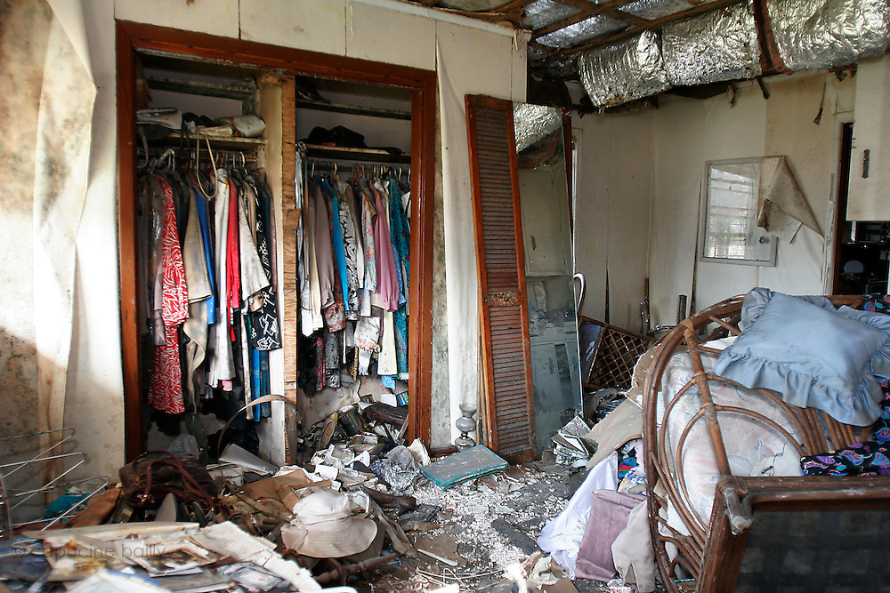 New Orleans, Louisiana. United States. March 2nd 2006..Close to where the levee broke, the Saint Bernard Parish area is one of the most devastated neighborhoods by hurricane Katrina . At 200 miles/hour, the water destroyed everything that was on its way. Six months later, the area has almost not changed. Some people try to clean up but some didn't come back to their house at all.
