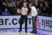 DESCRIZIONE : Campionato 2014/15 Serie A Beko Dinamo Banco di Sardegna Sassari - Acqua Vitasnella Cantu'<br /> GIOCATORE : Gianluca Sardella Stefano Sacripanti<br /> CATEGORIA : Fair Play<br /> SQUADRA : Acqua Vitasnella Cantu'<br /> EVENTO : LegaBasket Serie A Beko 2014/2015<br /> GARA : Dinamo Banco di Sardegna Sassari - Acqua Vitasnella Cantu'<br /> DATA : 28/02/2015<br /> SPORT : Pallacanestro <br /> AUTORE : Agenzia Ciamillo-Castoria/L.Canu<br /> Galleria : LegaBasket Serie A Beko 2014/2015