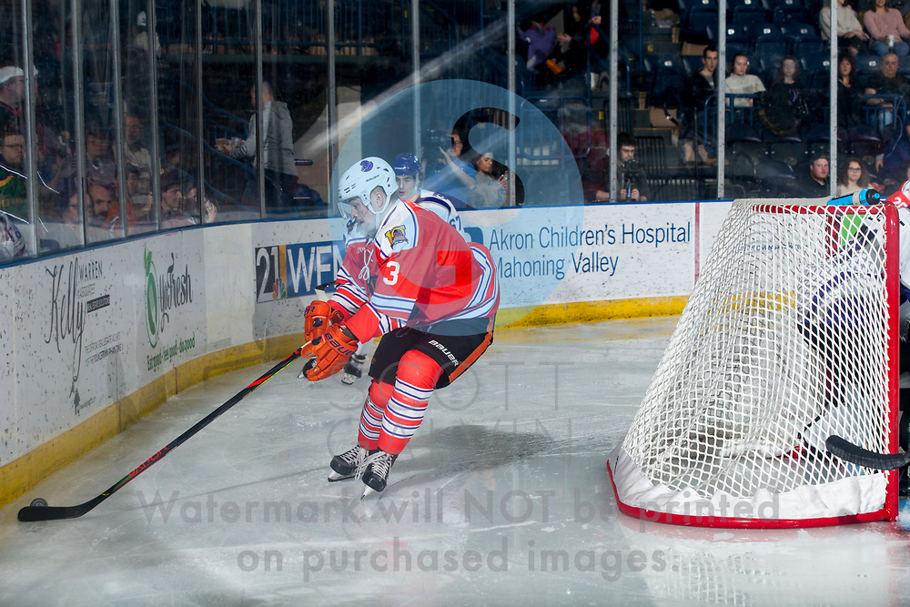 Youngstown Phantoms win 5-3 against the Tri-City Storm at the Covelli Centre on January 18, 2020.<br /> <br /> Jan Kern, forward, 3