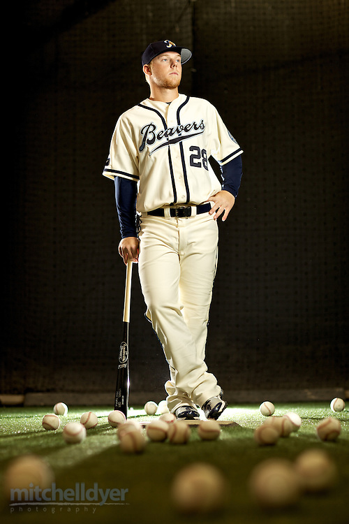 Portland Beavers Media Day Portraits. Photographed in Portland, OR.