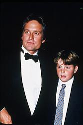 Jun 01, 1988; Hollywood, California, USA; 1988, Film Title: WALL STREET, Director: OLIVER STONE, Pictured: 1988, ACADEMY AWARDS CEREMONIES, AWARDS - ACADEMY, BEST ACTOR, CAMERON DOUGLAS, MICHAEL DOUGLAS, FAMILIES (REAL), LOS ANGELES SHRINE AUDITORIUM.   (Credit Image: Austral/ZUMAPRESS.com)