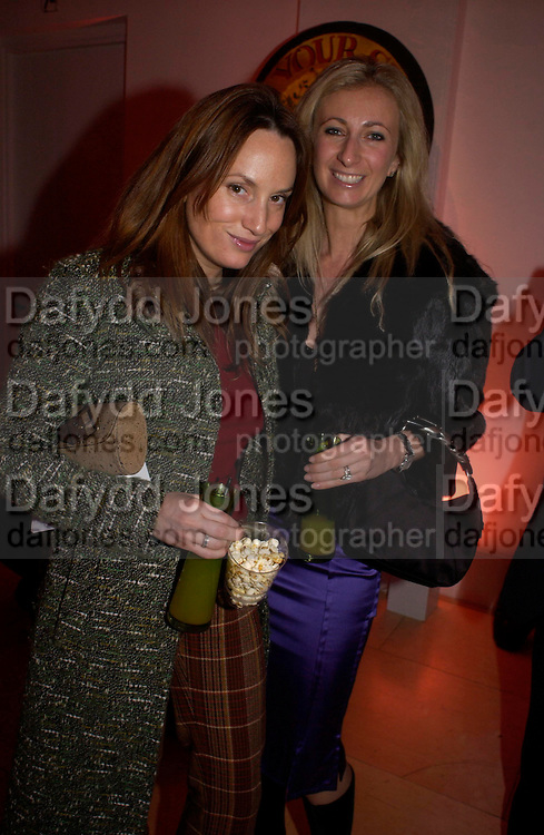 Emily Oppenheim and Jenny Halpern. Skools Rool, fundraising event  for the Royal Academy Schools.  Burlington St. London. 14 March 2005. ONE TIME USE ONLY - DO NOT ARCHIVE  © Copyright Photograph by Dafydd Jones 66 Stockwell Park Rd. London SW9 0DA Tel 020 7733 0108 www.dafjones.com