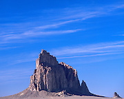 Ship Rock, a volcanic plug, on the Navajo Indian Reservation in New Mexico