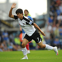 Fotball<br /> England<br /> Foto: Fotosports/Digitalsport<br /> NORWAY ONLY<br /> <br /> Seol Ki-Hyeon (Fulham)<br /> <br /> 15.08.09 Portsmouth v Fulham Barclays Premier League Fratton Park