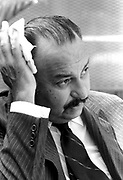 """Miami Nicaraguan President Anastasio """"Tachito"""" Somoza Debayle, in exile in Miami, Florida. Somoza was assassinated in<br /> Asunción, Paraguay on September 17, 1980 after resigning as president and fleeing to first the USA and then Paraguay."""