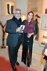 ROBERT BENSOUSSAN and ALEX MEYERS at the Roger Vivier 'The Perfect Pair' Frieze cocktail party celebrating Ambra Medda & 'Miss Viv' at the Roger Vivier Boutique, Sloane Street, London on 15th October 2014.