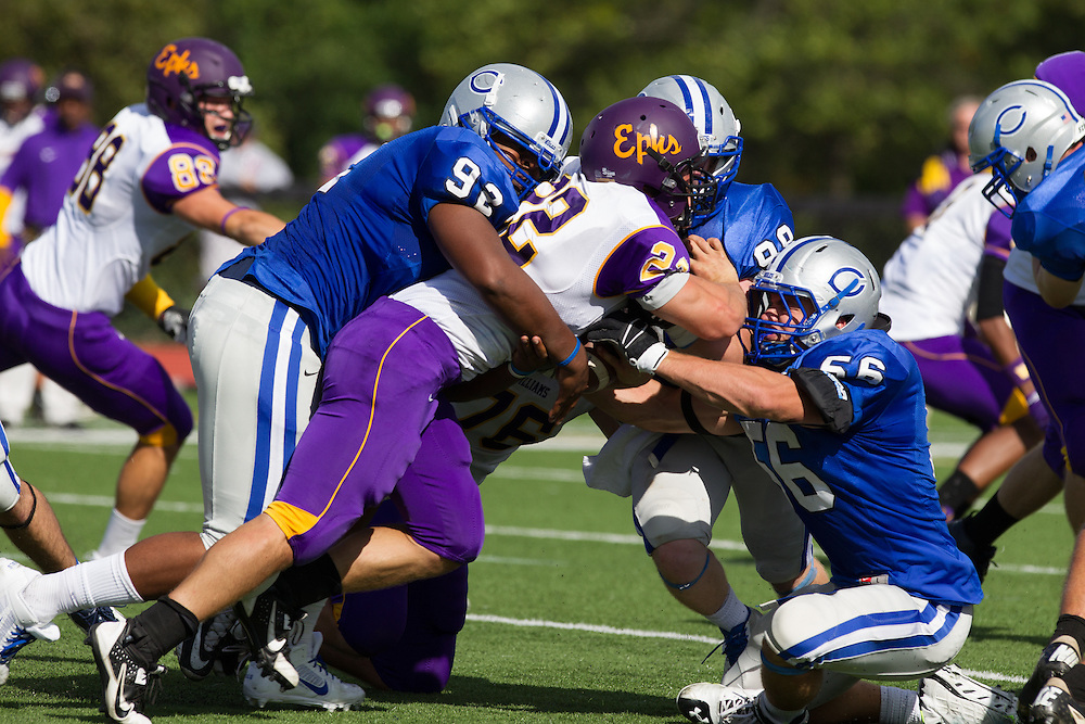 Caleb Harris, of Colby College, in a NCAA Division III football game on September 21, 2013 in Waterville, ME. (Dustin Satloff/Colby College Athletics)
