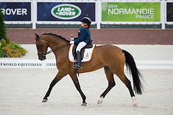Demi Vermeulen, (NED), Vaness - Team Competition Grade II Para Dressage - Alltech FEI World Equestrian Games™ 2014 - Normandy, France.<br /> © Hippo Foto Team - Jon Stroud <br /> 25/06/14