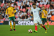 Adam Lallana of England passing the ball during the FIFA World Cup Qualifier group stage match between England and Lithuania at Wembley Stadium, London, England on 26 March 2017. Photo by Matthew Redman.