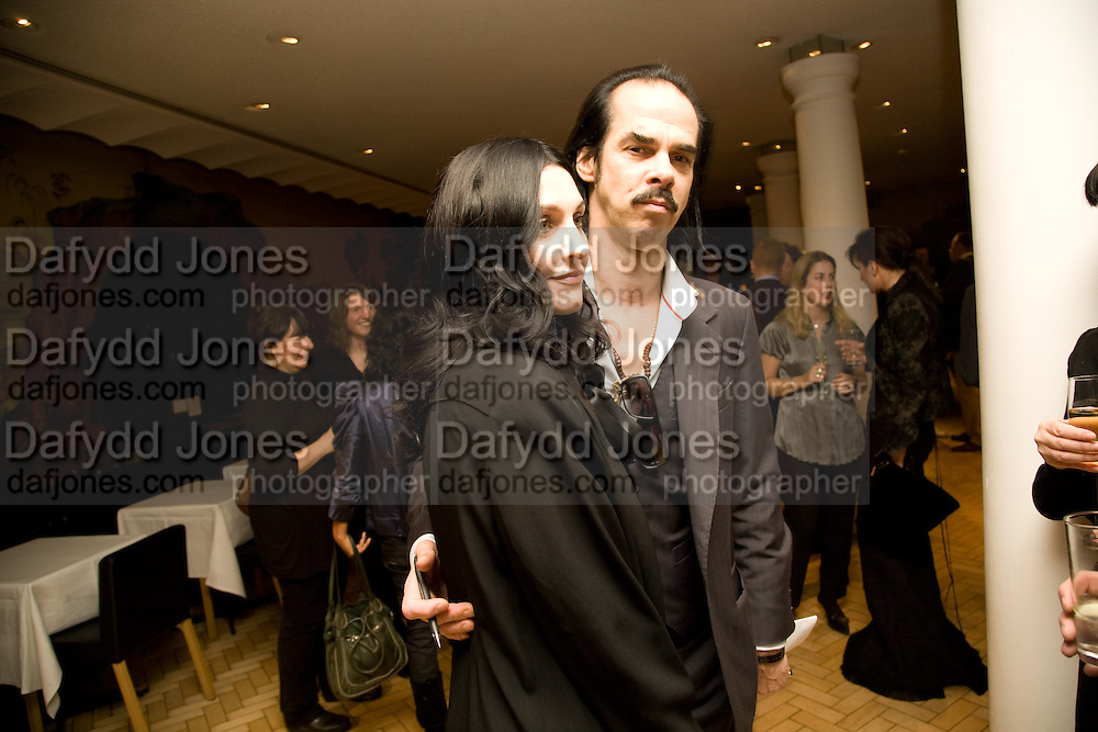 SUSIE BICK; NICK CAVE, 2008 Turner Prize Award. Tate Millbank. London. 1 December 2008 *** Local Caption *** -DO NOT ARCHIVE -Copyright Photograph by Dafydd Jones. 248 Clapham Rd. London SW9 0PZ. Tel 0207 820 0771. www.dafjones.com