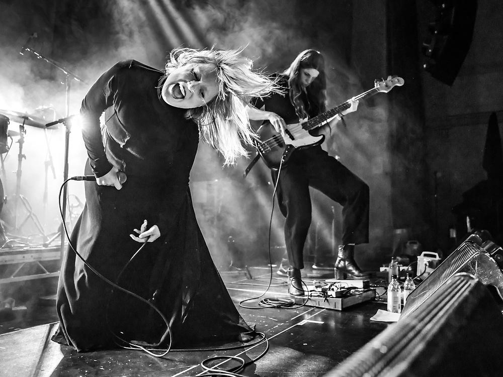 Katrína Mogensen and Ása Dýradóttir of Icelandic indie-rock band Mammút at Iceland Airwaves