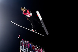 February 8, 2018 - Pyeongchang, SOUTH KOREA - 180208 Daniel AndrŽ Tande of Norway competes during the Men's Normal Hill Individual Qualification Trial ahead of the 2018 Winter Olympics on February 8, 2018 in Pyeongchang..Photo: Jon Olav Nesvold / BILDBYRN / kod JE / 160146 (Credit Image: © Jon Olav Nesvold/Bildbyran via ZUMA Press)