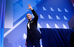 U.S. President Barack Obama waves at the 39th Annual Congressional Hispanic Caucus Institute Public Policy Conference and Annual Awards Gala, September 15 2016, in Washington, DC. Photo by Olivier Douliery/Abaca