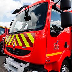 Images d'illustration réalisées au Service Départemental de Sécurité Incendie de Seine et Marne dans le cadre d'un voyage de presse organisé par le GICAT.<br /> Mai 2014 / Melun (77) / FRANCE