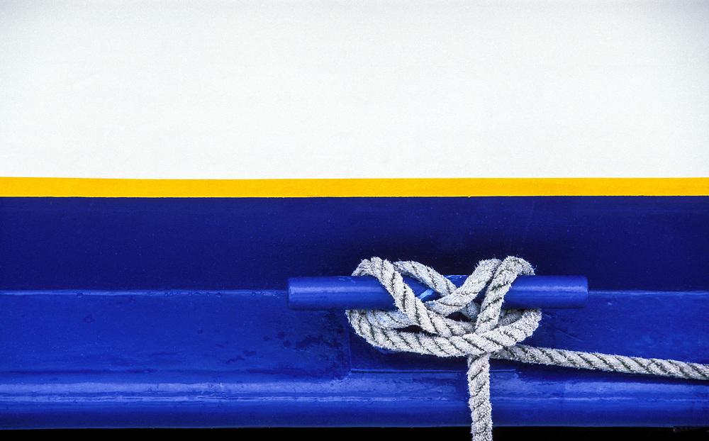 The cleat on a boat, Seward, Alaska, USA.