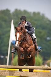 D' Haeyere Tom (BEL) - Fleur D'Hiver<br /> Nationaal Kampioenschap Jonge Paarden Merksplas 2011<br /> © Dirk Caremans