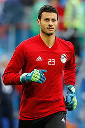 June 19, 2018 - Saint Petersburg, Russia - Mohamed Elshenawy of Egypt national team during the 2018 FIFA World Cup Russia group A match between Russia and Egypt on June 19, 2018 at Saint Petersburg Stadium in Saint Petersburg, Russia. (Credit Image: © Mike Kireev/NurPhoto via ZUMA Press)