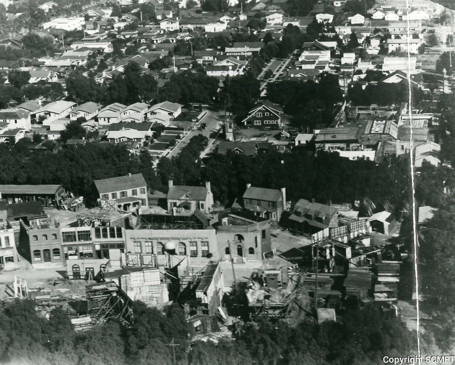 1922 Aerial of Christie Studios at Sunset Blvd. & Gower St.