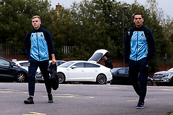 James Daly of Bristol Rovers and Josh Hare of Bristol Rovers arrive at The Memorial Stadium for the Leasing.com Trophy match against Walsall - Mandatory by-line: Robbie Stephenson/JMP - 08/09/2020 - FOOTBALL - Memorial Stadium - Bristol, England - Bristol Rovers v Walsall - Leasing.com Trophy
