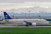 Saudi Arabian Airlines, Airbus A320-214 (HZ-ASA) at Malpensa (MXP / LIMC), Milan, Italy