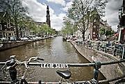 View of Westerkerk Church from Canal Bridge