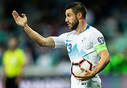 Bojan Jokić of Slovenia during football match between National teams of Slovenia and North Macedonia in Group G of UEFA Euro 2020 qualifications, on March 24, 2019 in SRC Stozice, Ljubljana, Slovenia. Photo by Vid Ponikvar / Sportida
